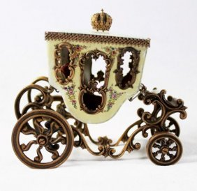Viennese Enamel Miniature Carriage