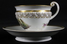 19th C, Meissen Cup And Saucer