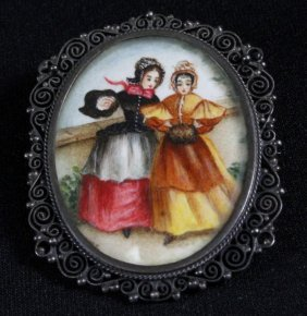 German Porcelain Broch