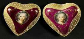Pair Of Porcelain Ring Trays