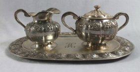 3 Pc. Sterling Silver Teaset