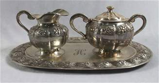 3 PC STERLING SILVER TEASET