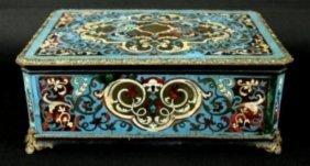 19th C. Boulle Lidded Box