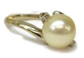 Ladies 14kt & Pearl Estate Ring