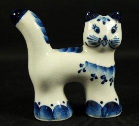 Russian Porcelain Figure Of Cat