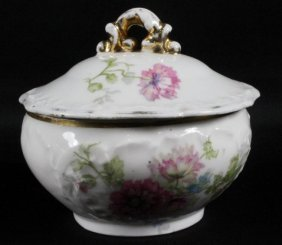 German Porcelain Bowl With Cover