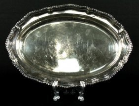 Tiffany And Co. Makers Silver Plate Oval Dish