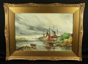 Val Staten Painting Coastal Scene