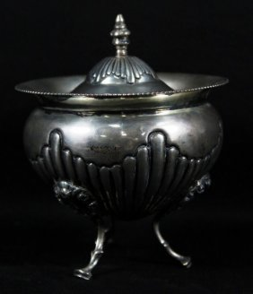Goerge Nathan Silver Bowl With Cover