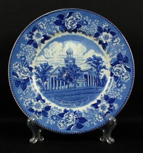 English Porcelain Plate Of Warren Courthouse