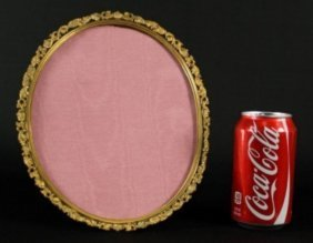Antique Bronze Oval Picture Frame