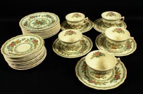 31 Pc. Royal Doulton Porcelain Teaset