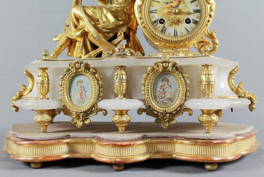 ANTIQUE 19TH C. FRENCH S. MARTI FIGURAL GILT & WHITE - 3