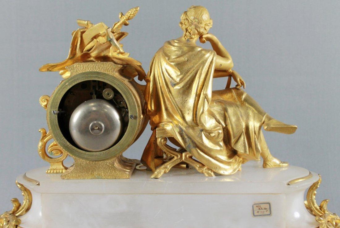ANTIQUE 19TH C. FRENCH S. MARTI FIGURAL GILT & WHITE - 5