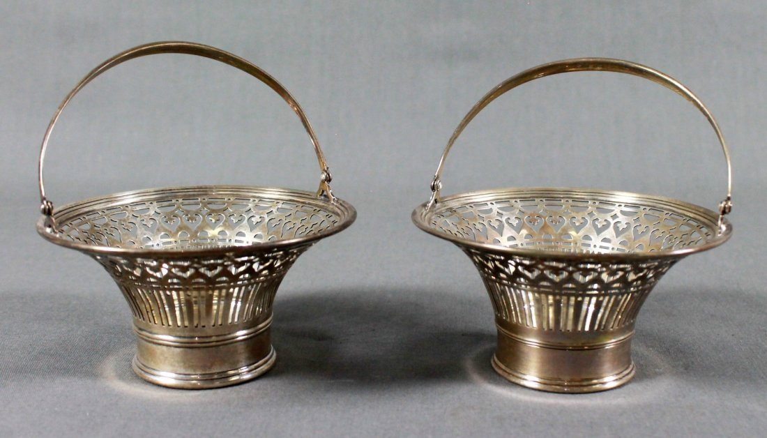 PAIR OF TIFFANY AND CO. 925 STERLING SILVER CANDY DISHE