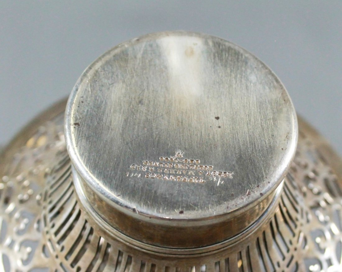 PAIR OF TIFFANY AND CO. 925 STERLING SILVER CANDY DISHE - 4
