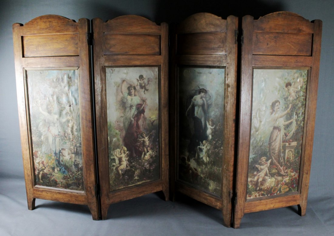 4 PANEL VICTORIAN STYLE TABLESCREEN