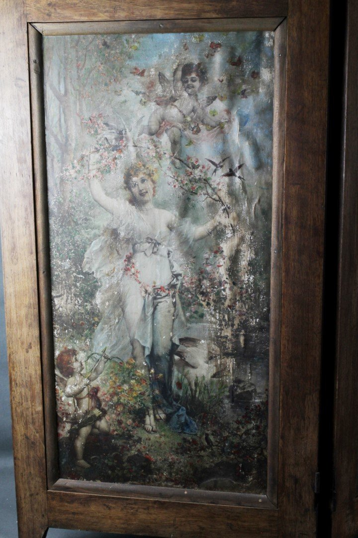 4 PANEL VICTORIAN STYLE TABLESCREEN - 2
