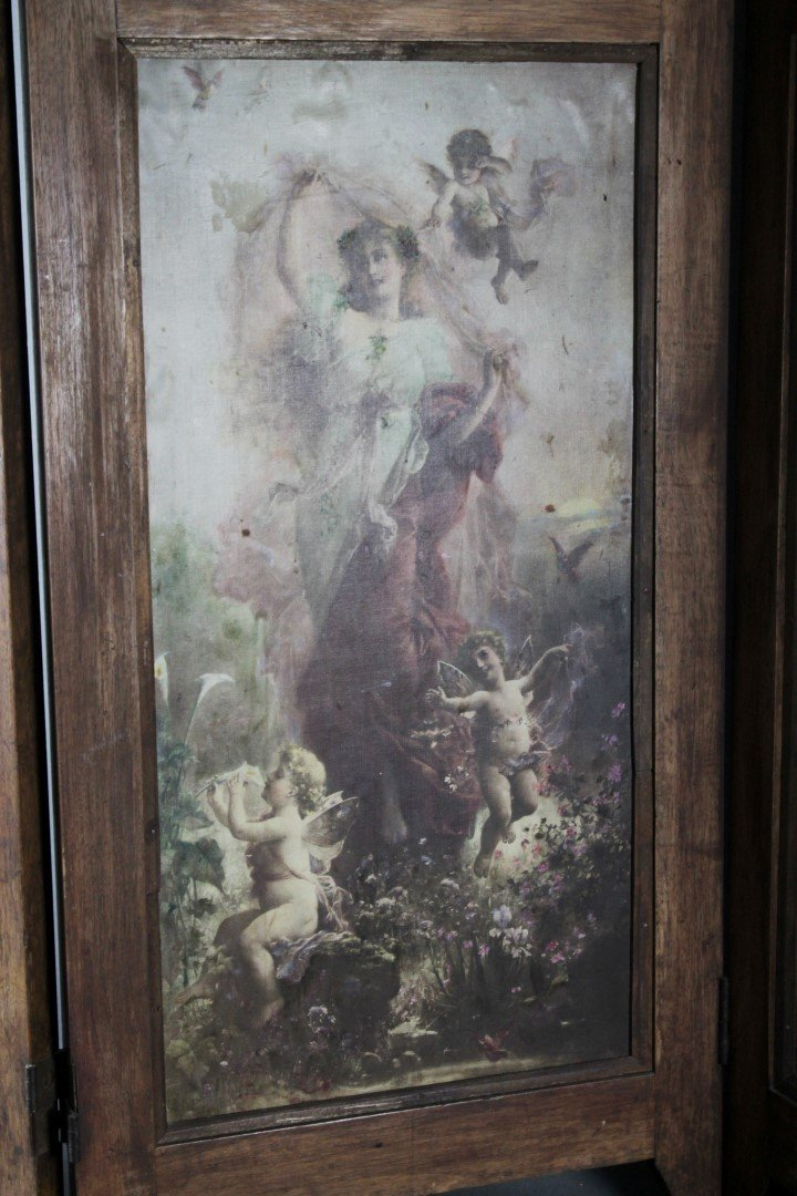 4 PANEL VICTORIAN STYLE TABLESCREEN - 3