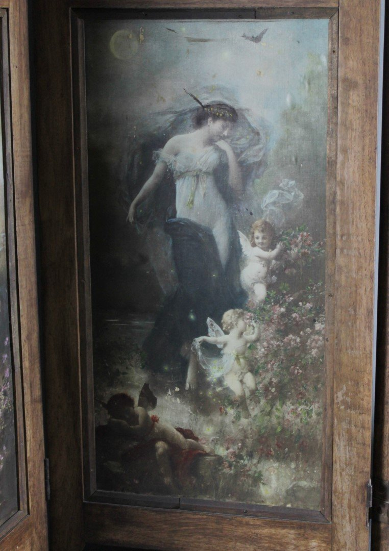 4 PANEL VICTORIAN STYLE TABLESCREEN - 4