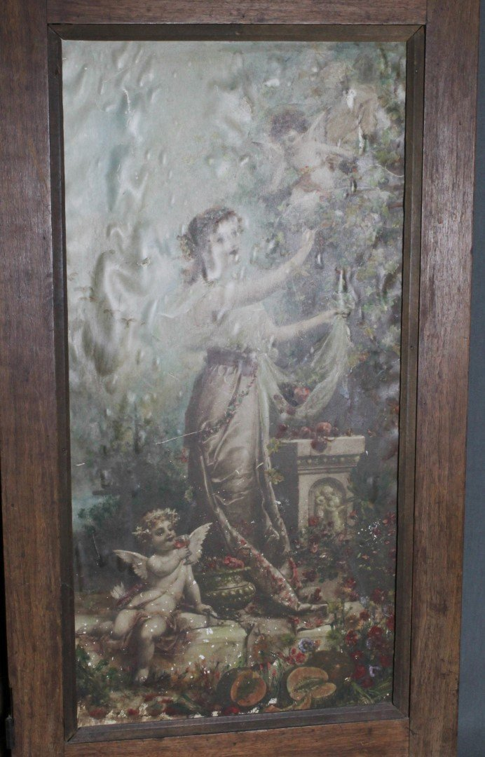 4 PANEL VICTORIAN STYLE TABLESCREEN - 5
