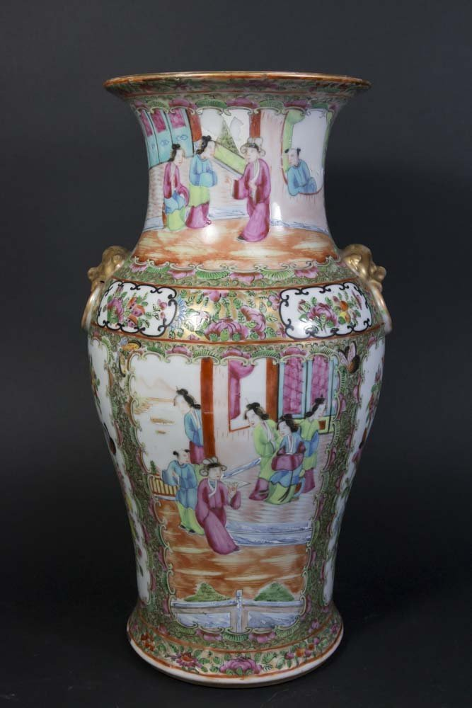 Chinese Rose Medallion Porcelain Vase