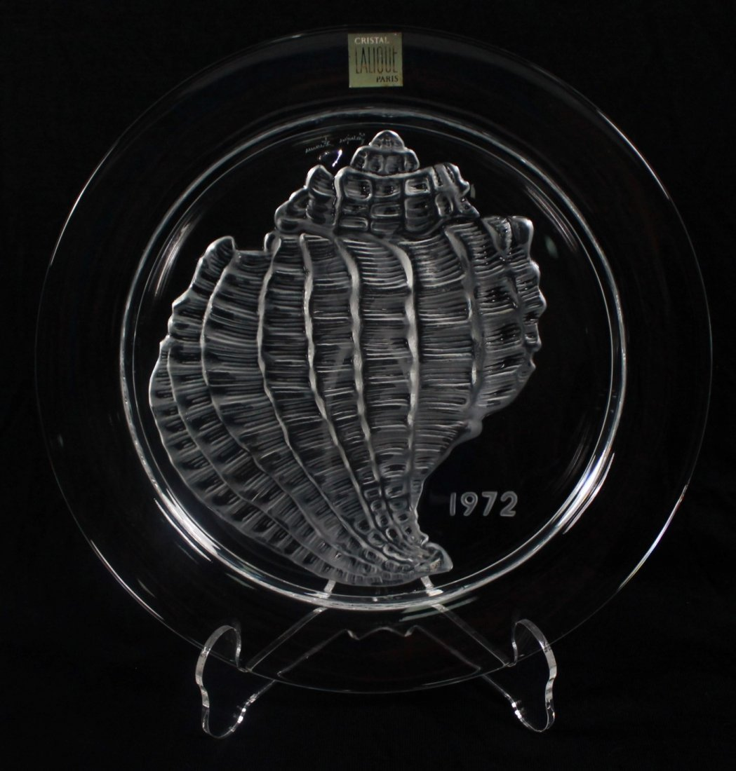 "ANTIQUE LALIQUE COLLECTOR PLATE"" COQUILLAGE"