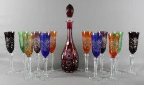 13 PC . MOSER STYLE DRINKING SET