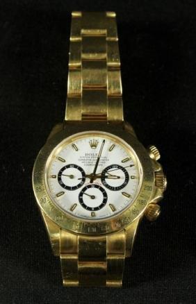 Rolex 18k Yellow Gold Daytona Wristwatch