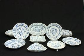 14 pc. Meissen Porcelain Plates & Soup Bowls