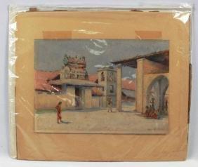 "INDIAN WATERCOLOR SIGNED ""EDWIN KOCH"" CIRCA 1910"" NO"