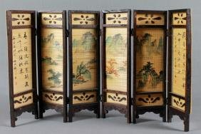 6 PANEL CHINESE SCREEN