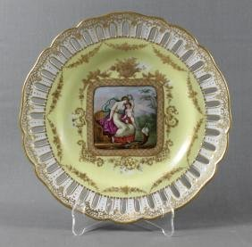 ROYAL VIENNA RETICULATED PLATE