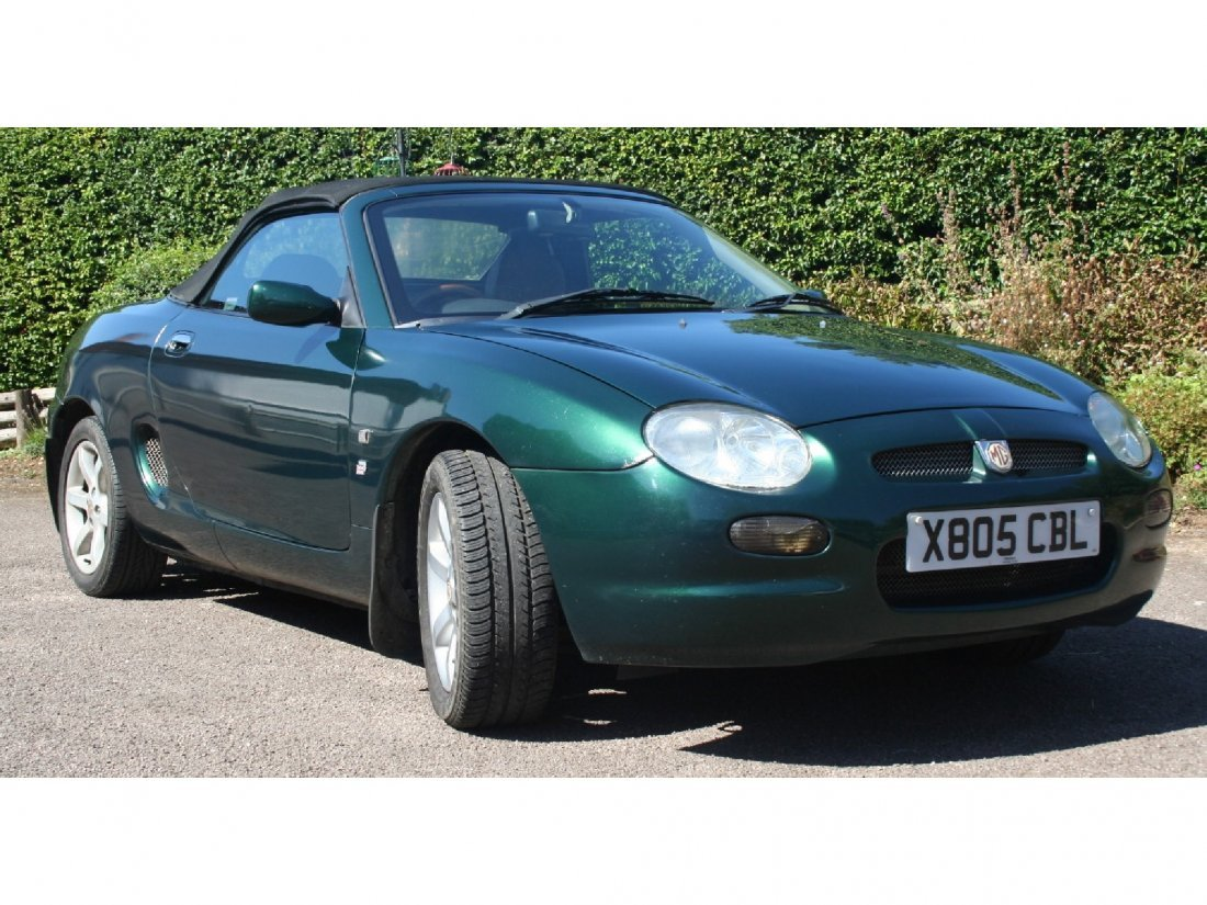 2: MG TF offered in Metallic Green with Cream Leather i