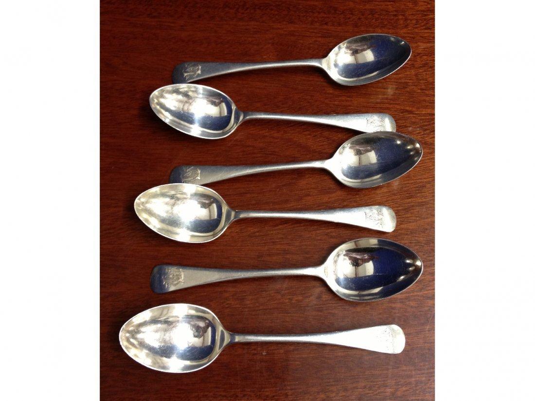 22: Six hallmarked teaspoons (Birmingham 1900)