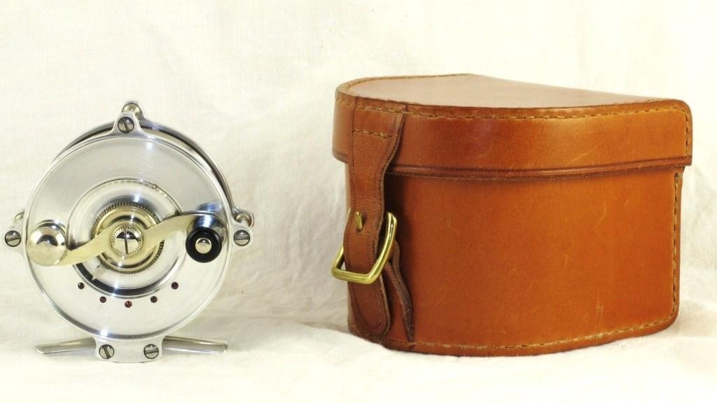 1: Janciuras Trout Reel with Arne Mason Leather Case