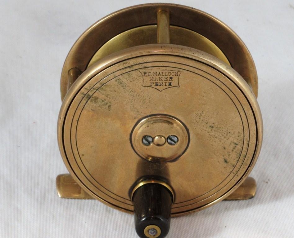 """11: P.D. Malloch Brass Fly Reel in 2 3/4"""""""