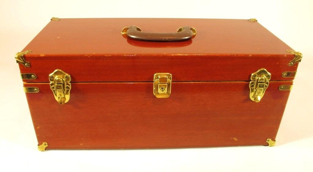 308: Abercrombie & Fitch Deluxe Mahogan Tackle Box