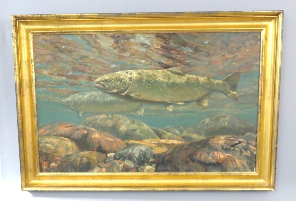 Oil Painting by Mike Stidham of Atlantic Salmon