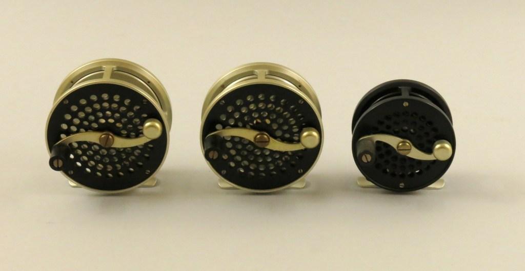 Three Peerless Prototype Trout Reels - Model 1, 2, & 3