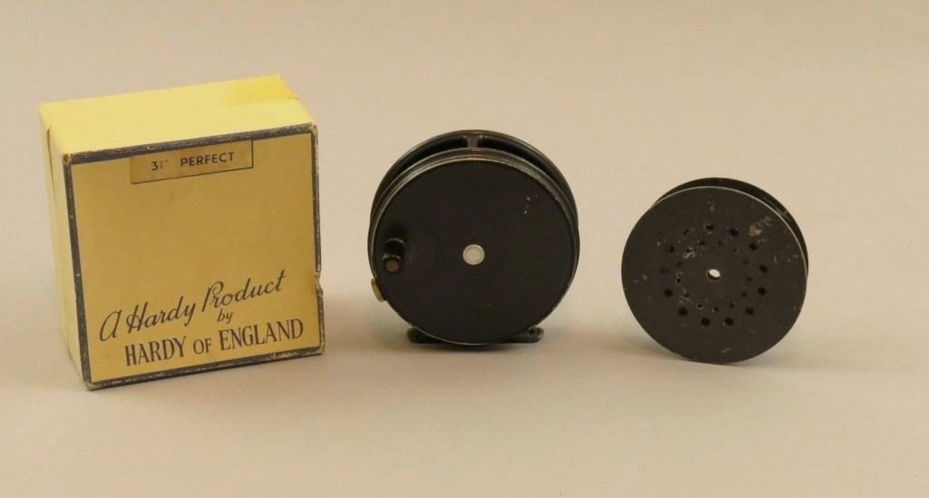 """Hardy """"Perfect"""" 3 5/8"""" Trout Reel in Box"""