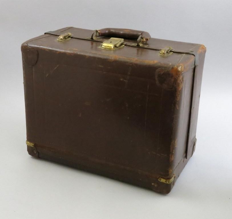 Sixteen Tray Knickerbocker Leather Tackle Box