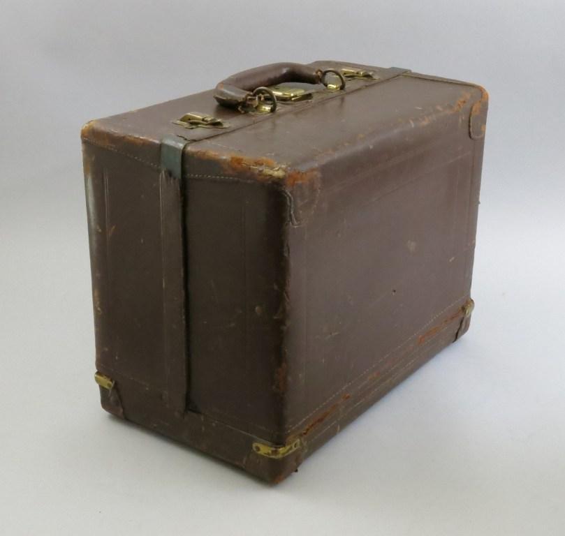 Sixteen Tray Knickerbocker Leather Tackle Box - 2