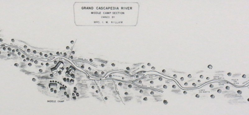 Map of Middle Camp on the Grand Cascapedia River - 3