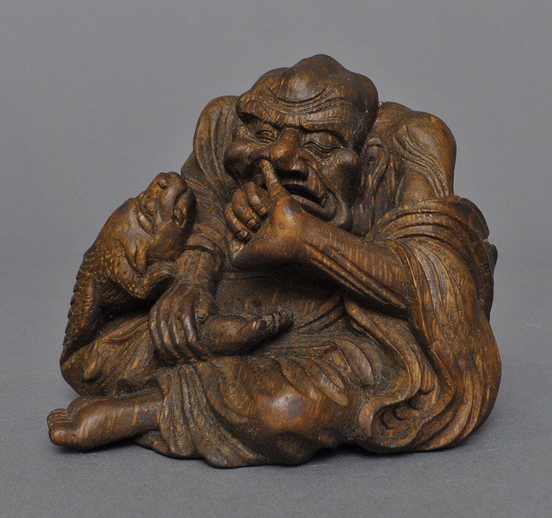 A Chinese Bamboo Carved Luohan