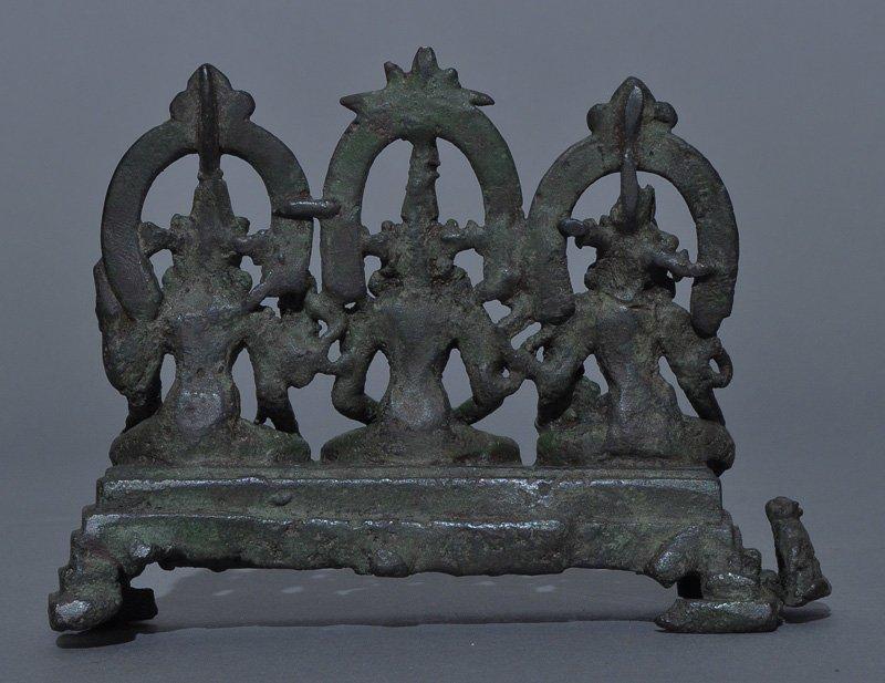 A Rare Indian Pala Bronze 3 Goddess Trinity, 9th-11th C - 2
