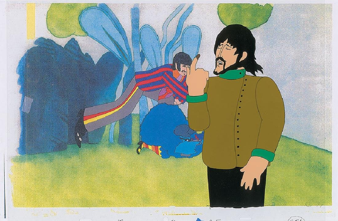 George Harrison production cel from Yellow Submarine