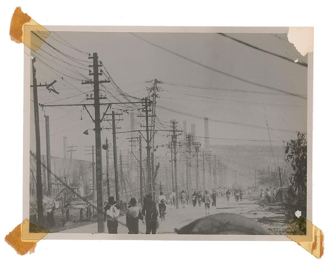 Nagasaki Original Photograph of Telephone Poles by Yosuke Yamahata