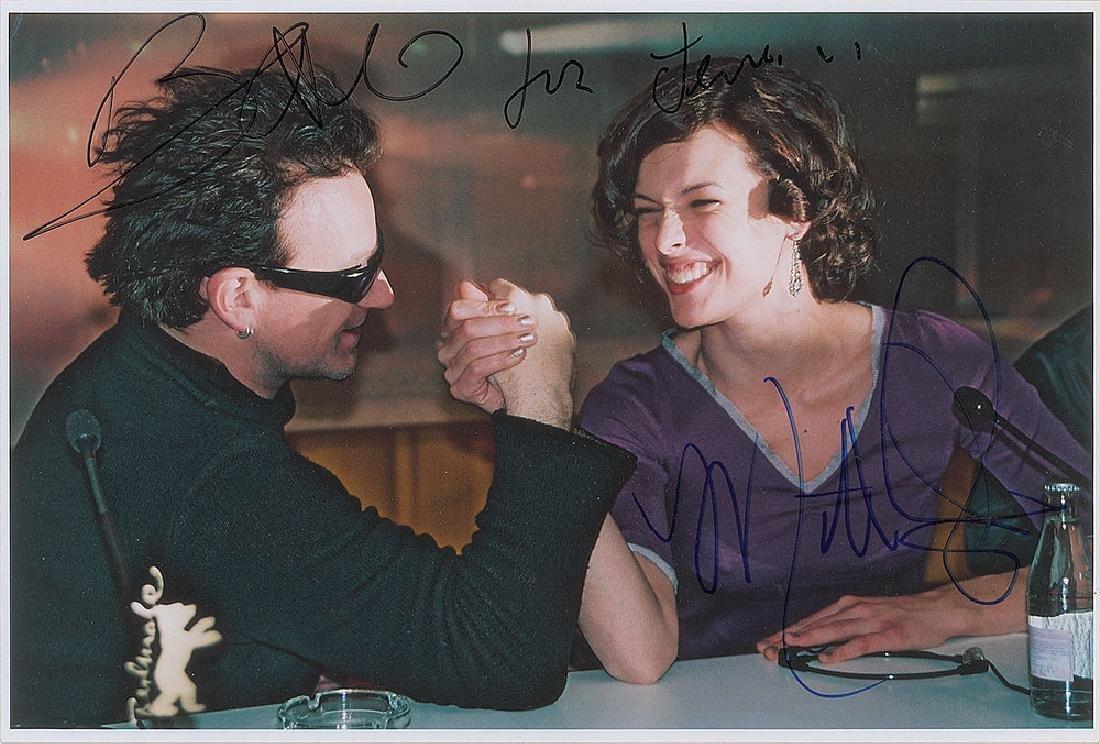 Bono and Milla Jovovich