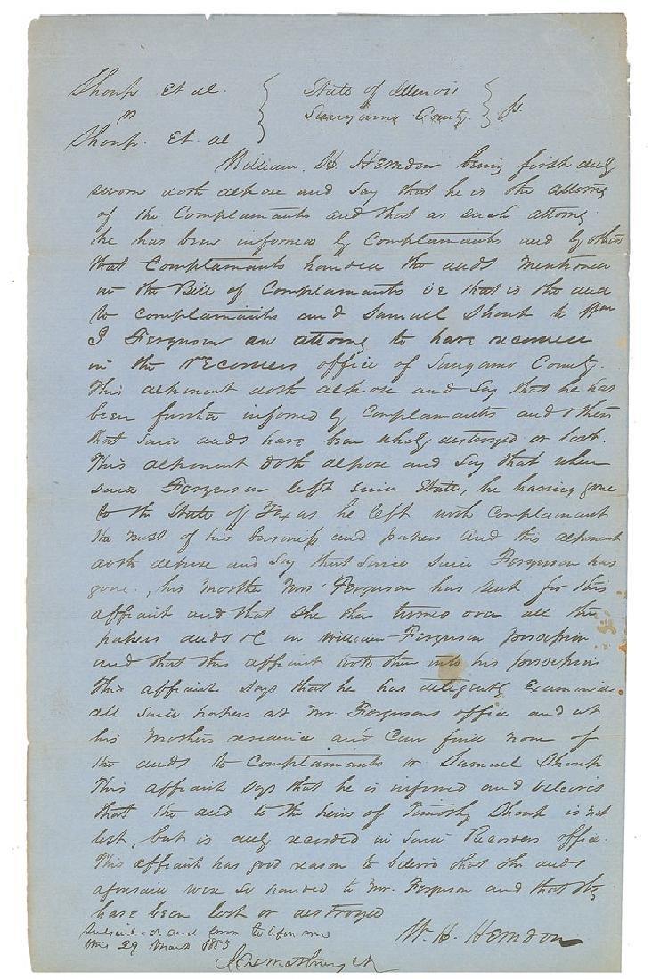 Abraham Lincoln: William H. Herndon